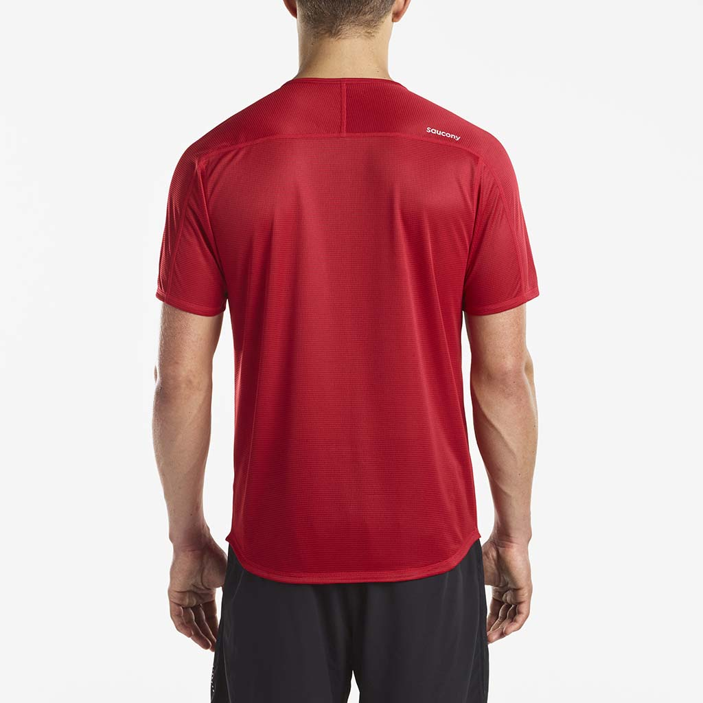 Saucony Hydralite men's running t-shirt red rv