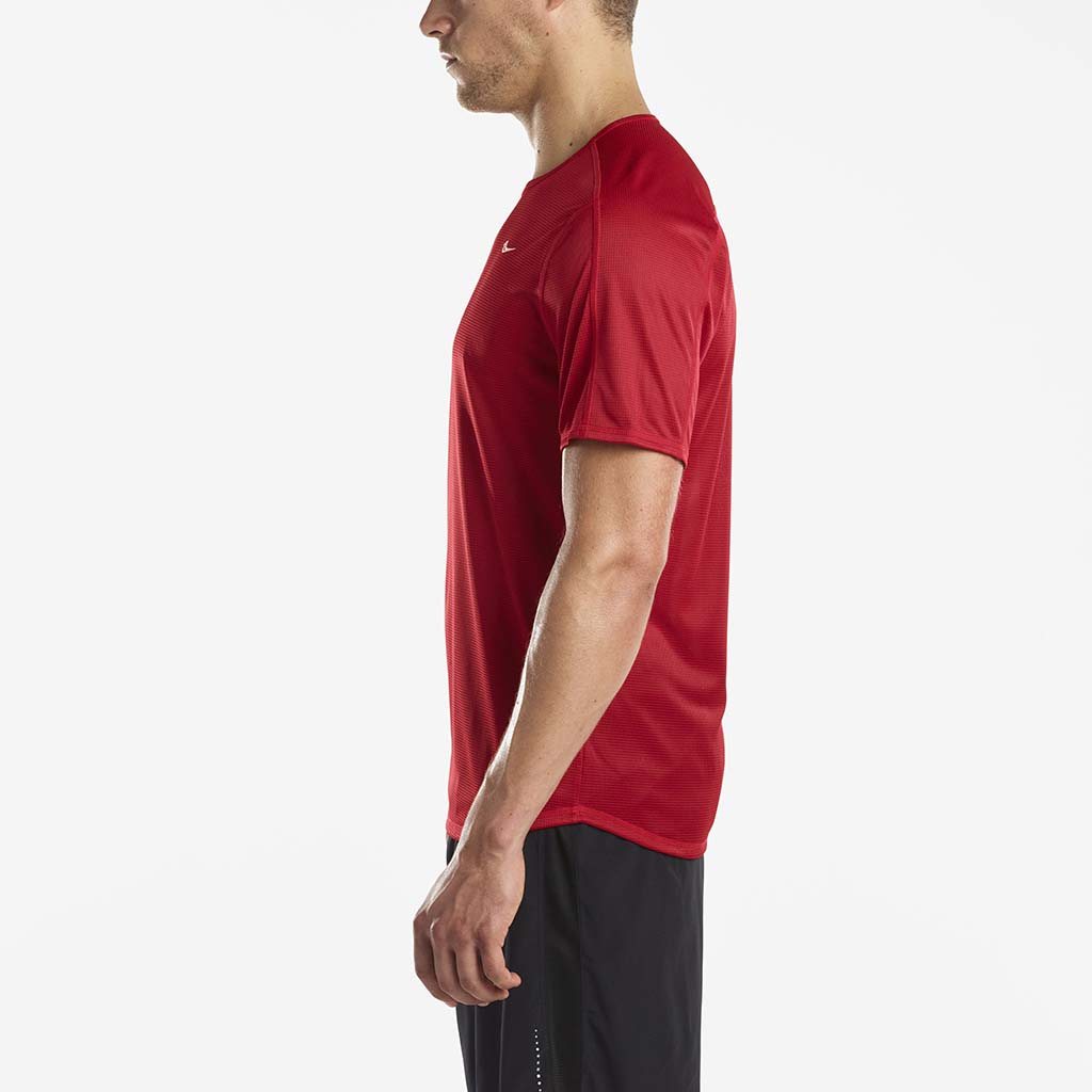 Saucony Hydralite men's running t-shirt red lv