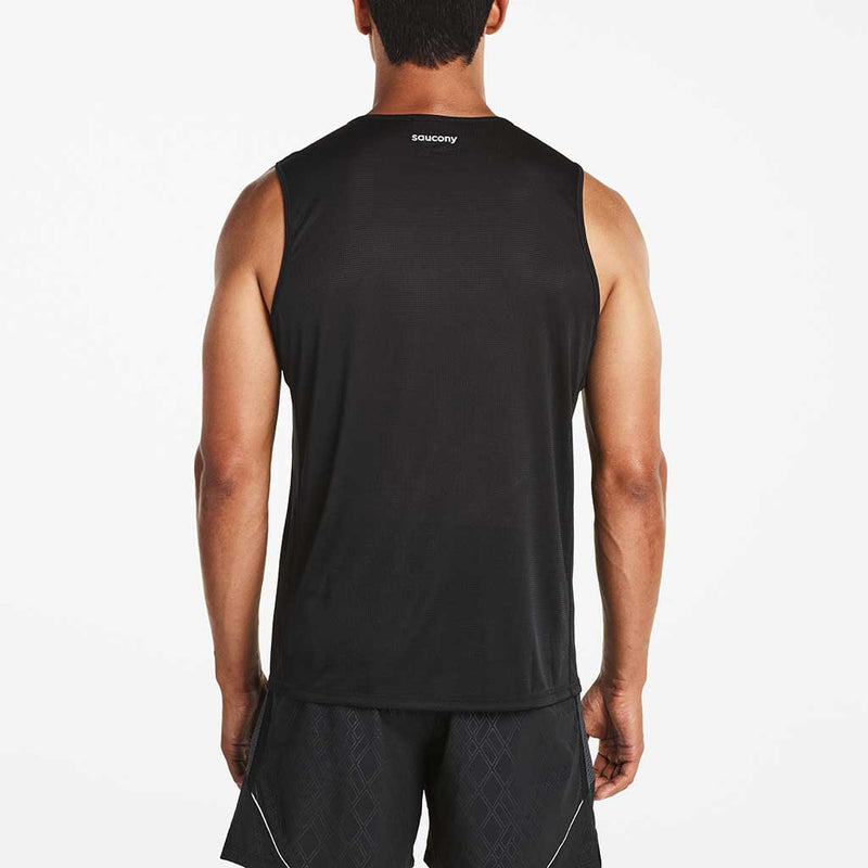Saucony Hydralite Sleeveless T-shirt sans manches sport homme noir vue dos