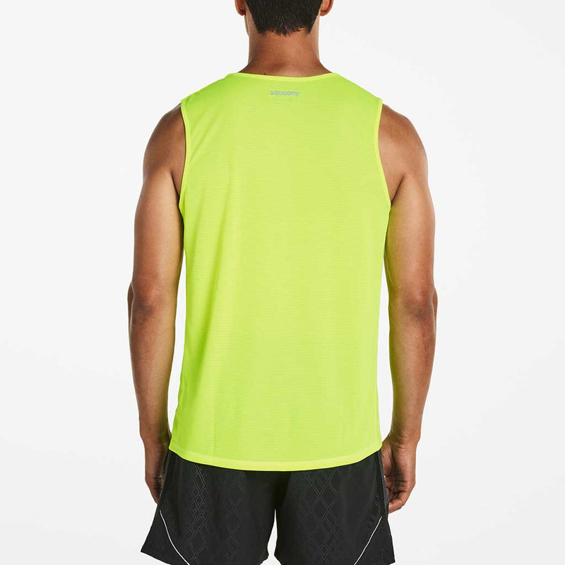Saucony Hydralite Sleeveless T-shirt sans manches sport homme vizpro vue dos