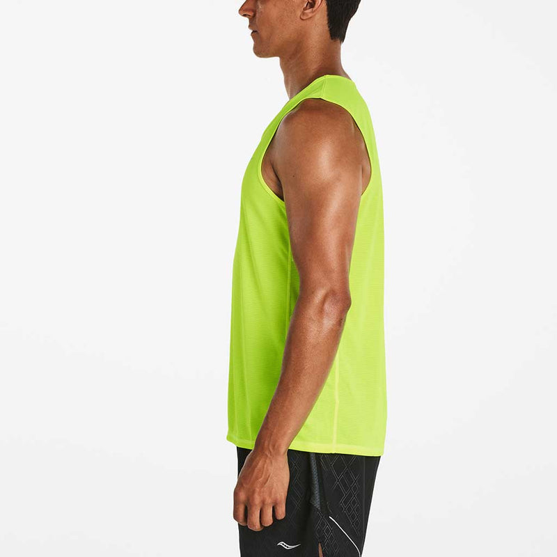 Saucony Hydralite Sleeveless T-shirt sans manches sport homme vizpro vue lat