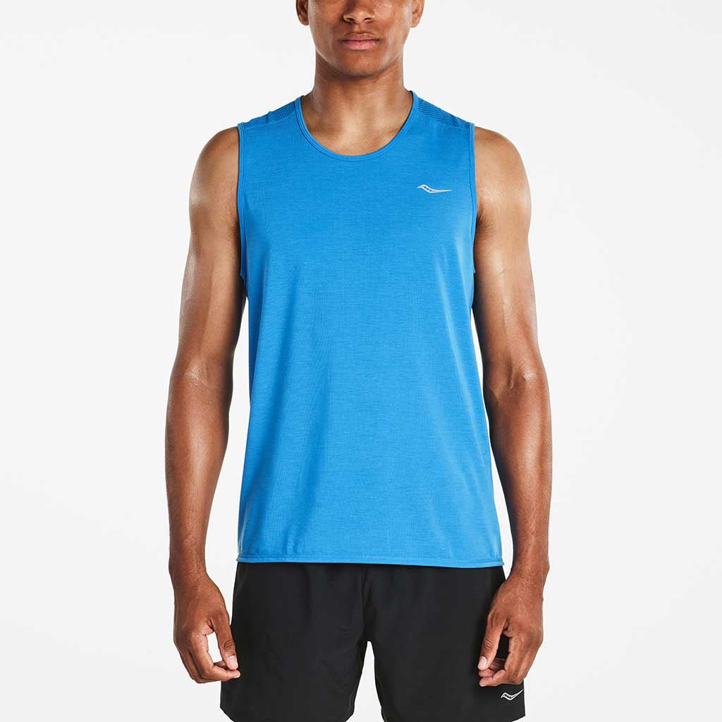Saucony Freedom T-shirt sans manches sport homme blue