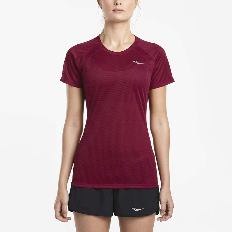 Saucony Hydralite women's running t-shirt red