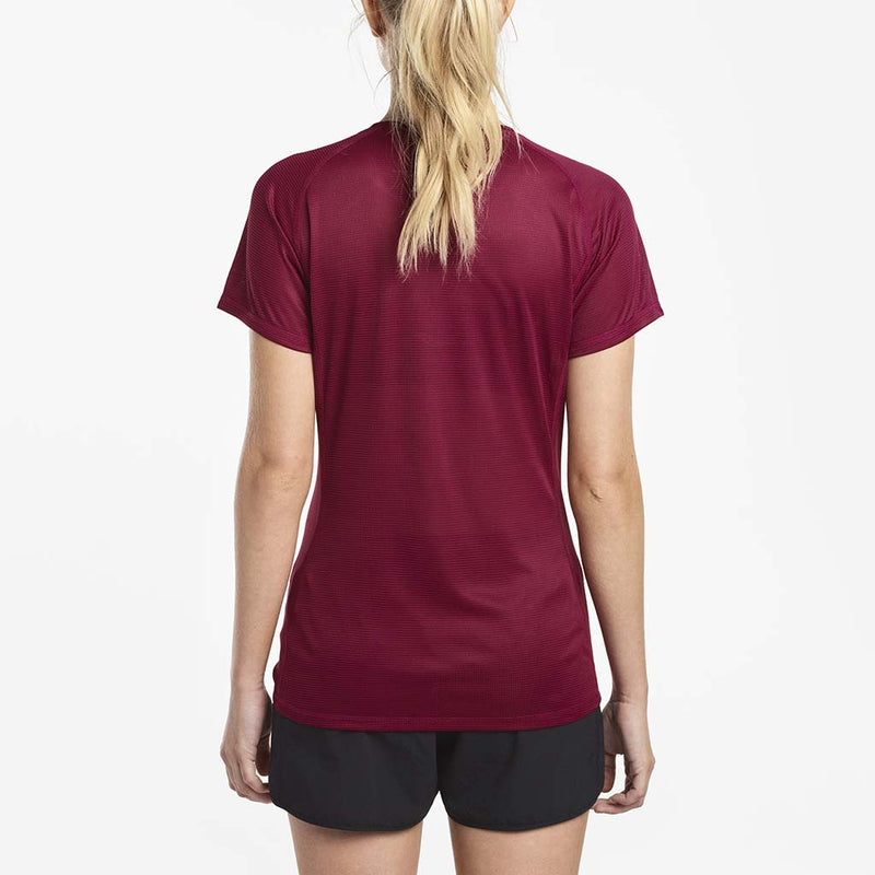 Saucony Hydralite women's running t-shirt red rv
