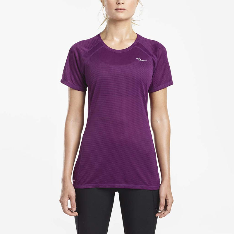 Saucony Hydralite women's running t-shirt grape