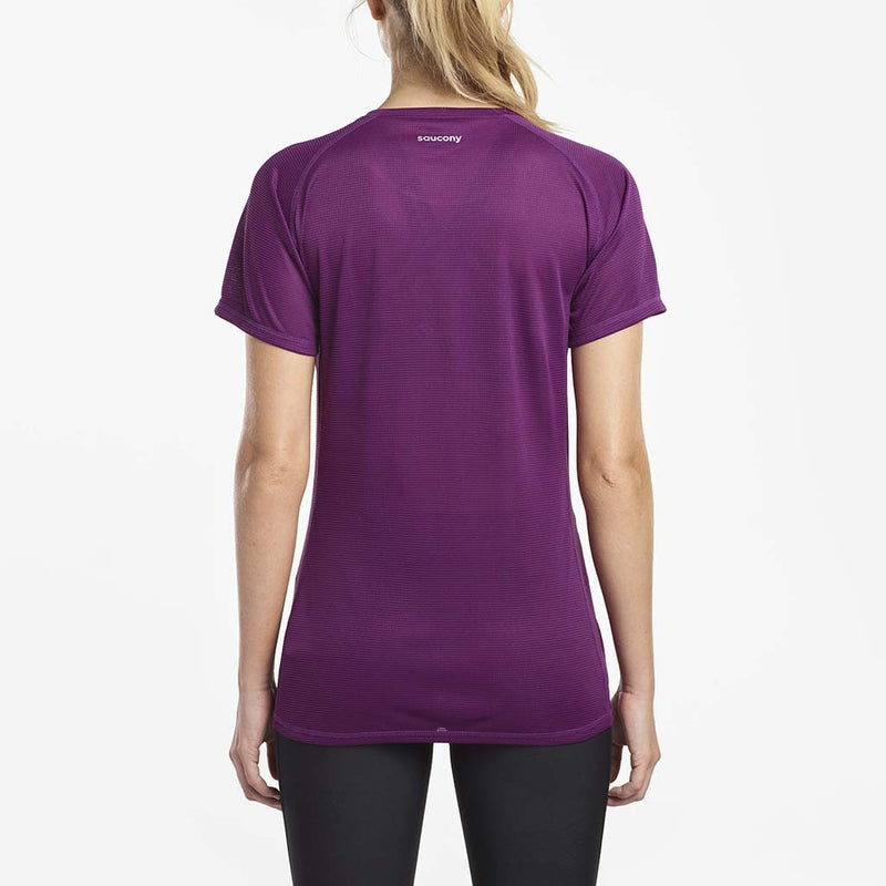 Saucony Hydralite women's running t-shirt grape rv