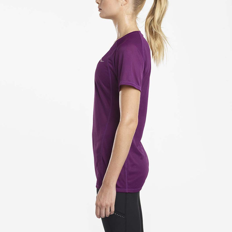 Saucony Hydralite women's running t-shirt grape lv