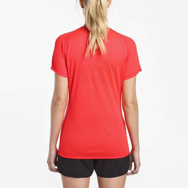 Saucony Hydralite women's running t-shirt vizipro red rv