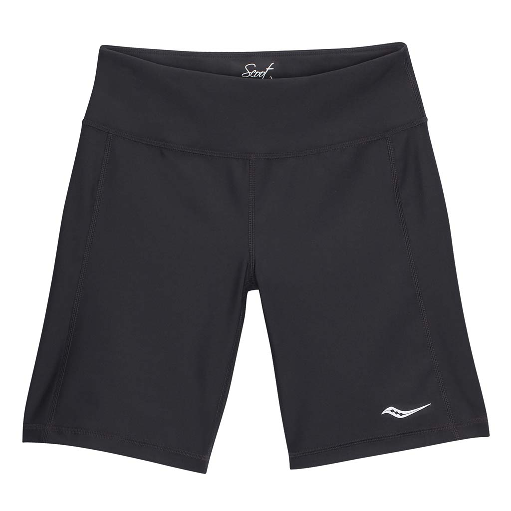 "Saucony Scoot 8"" women's running shorts black"