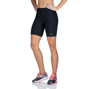 "Saucony Scoot 8"" women's running shorts black lv"