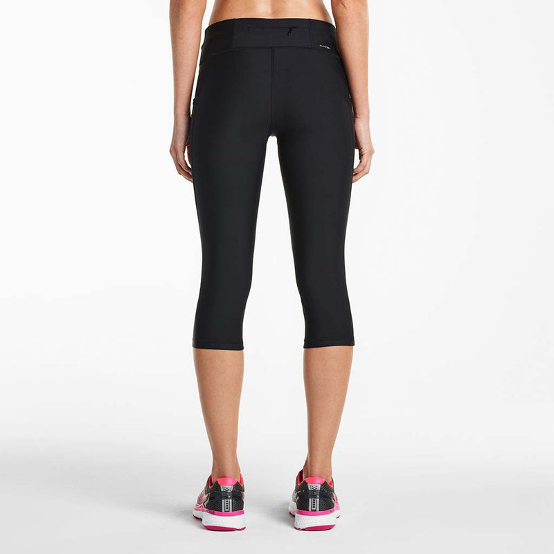 Saucony Bullet women's running capri tights black rv