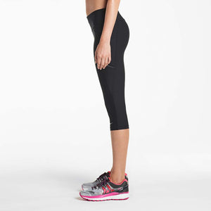 Saucony Bullet women's running capri tights black lv