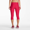 Saucony Bullet women's running capri tights framboise rv