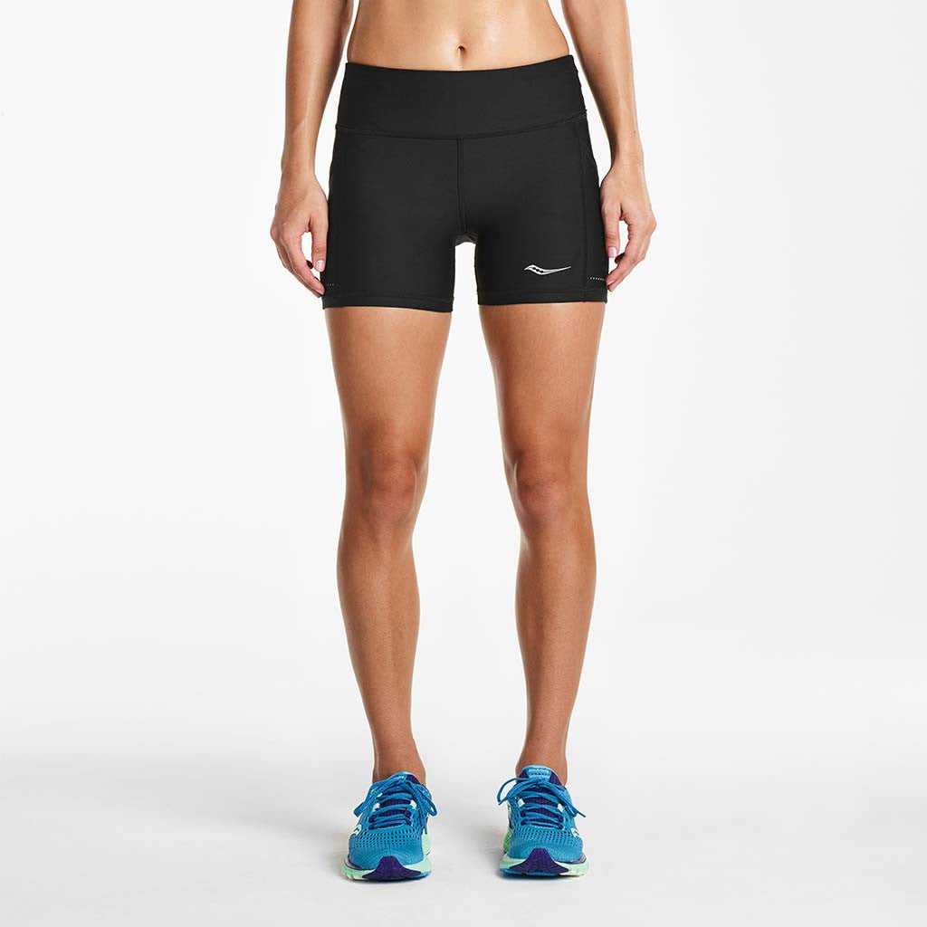 Saucony Bullet Tight women's running short noir