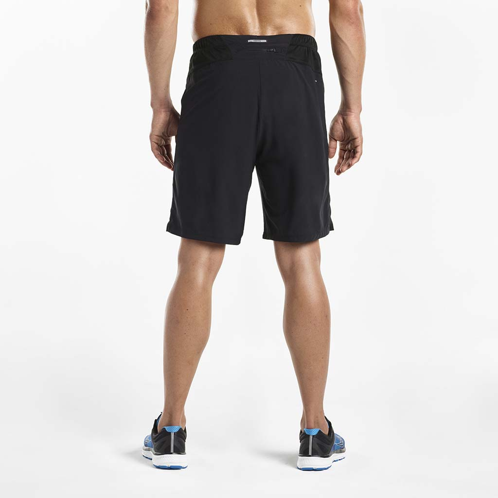 Saucony Interval 2-1 men's running shorts black rv