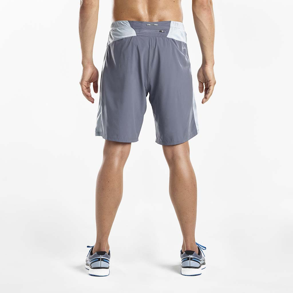 Saucony Interval 2-1 men's running shorts grey rv