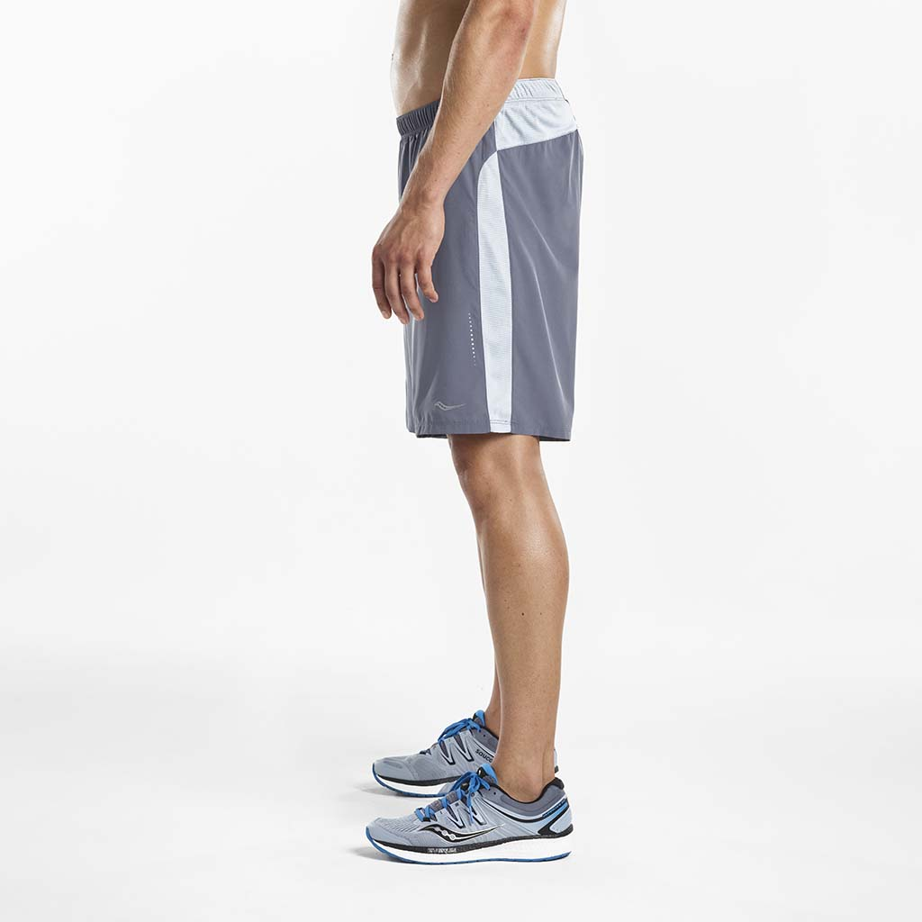 Saucony Interval 2-1 men's running shorts grey lv