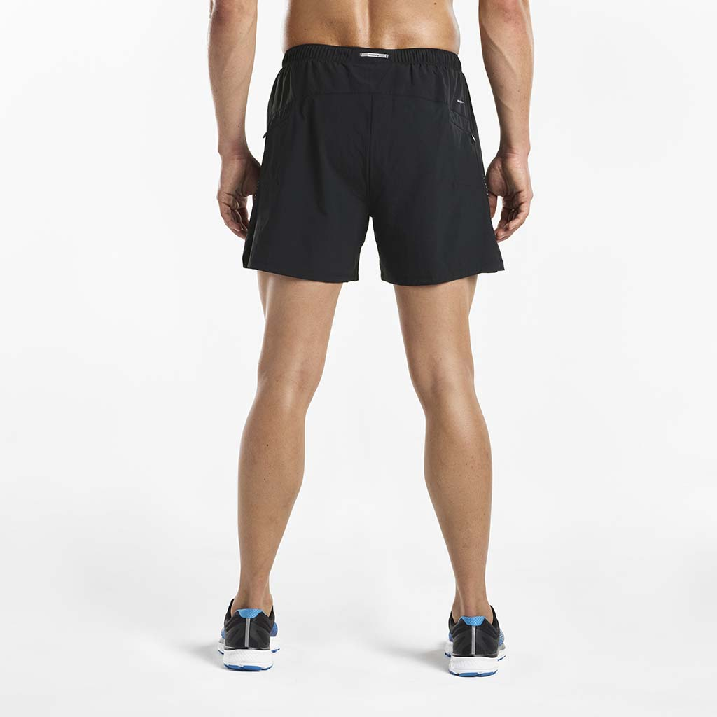 Saucony Throttle men's running shorts black rv