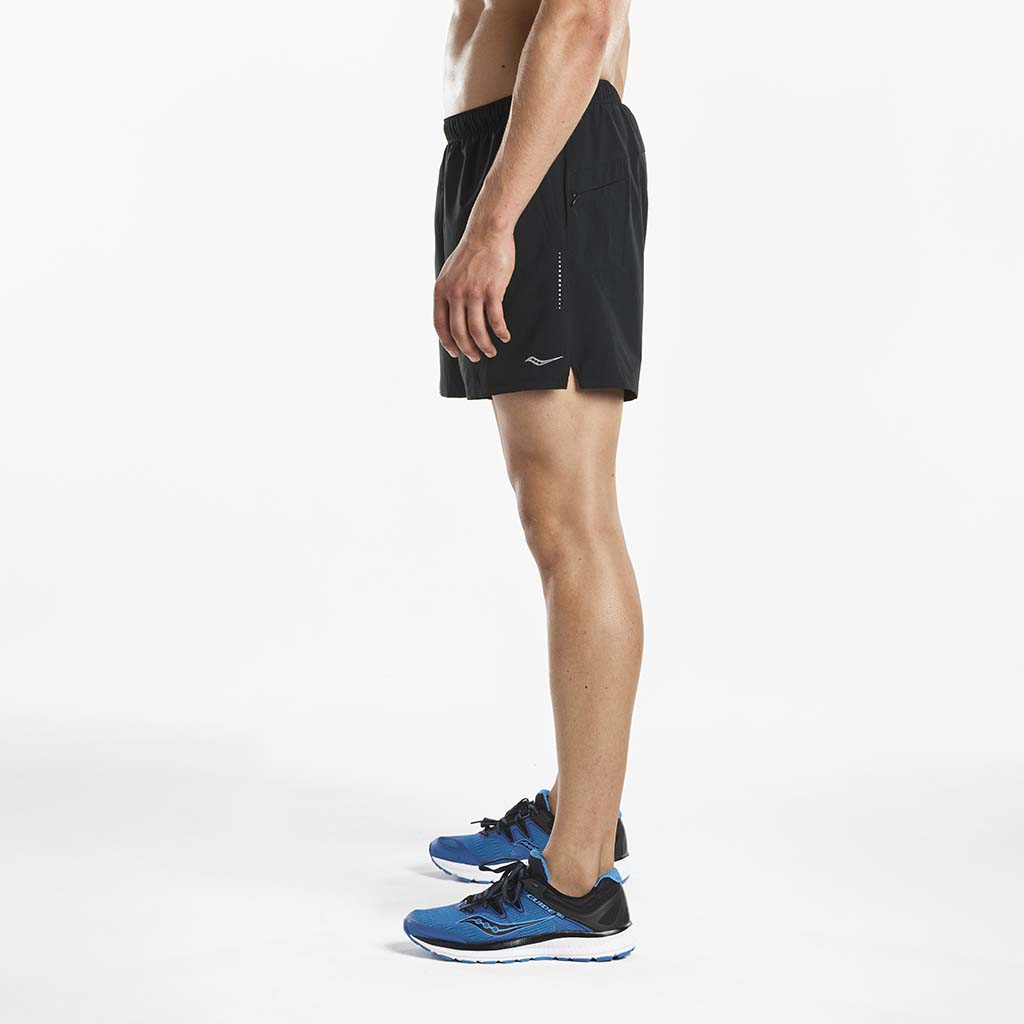 Saucony Throttle men's running shorts black lv