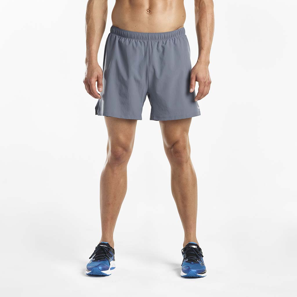 Saucony Throttle men's running shorts gris