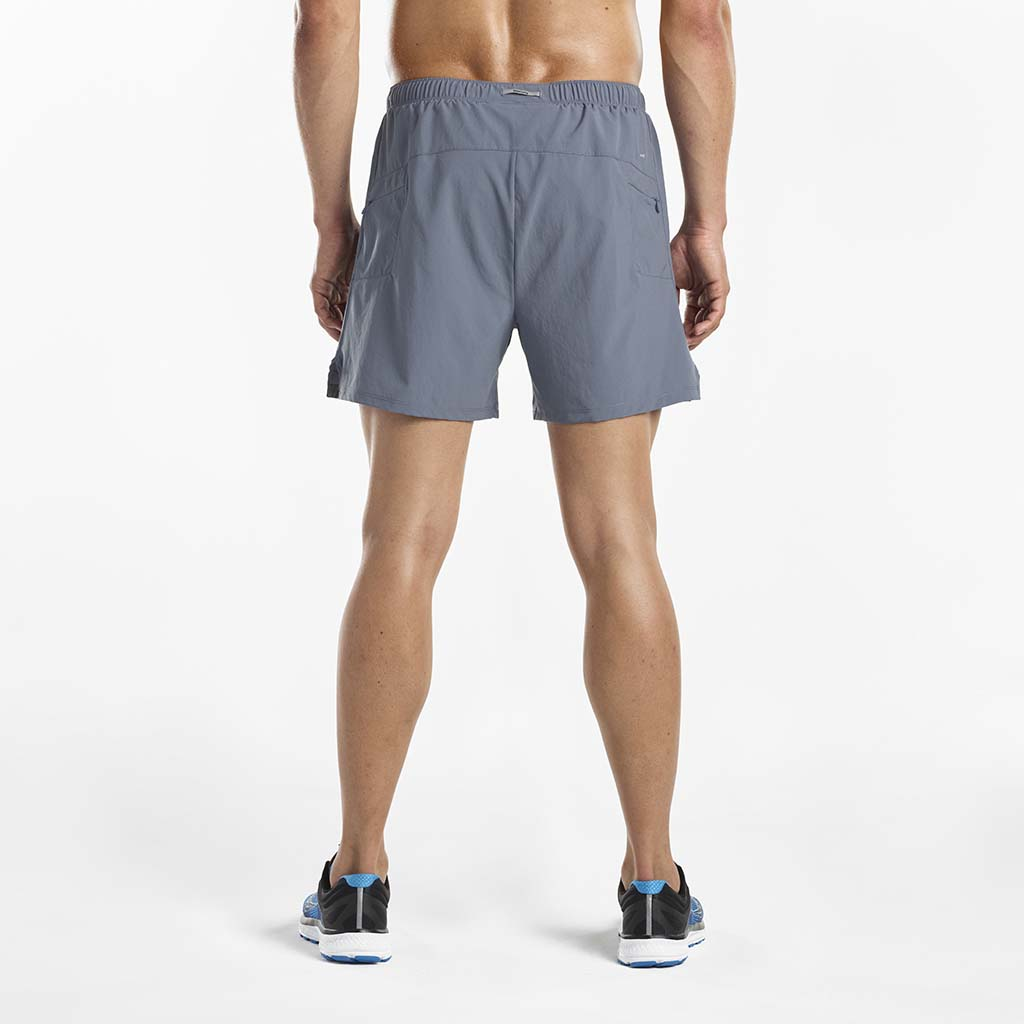 Saucony Throttle men's running shorts gris rv