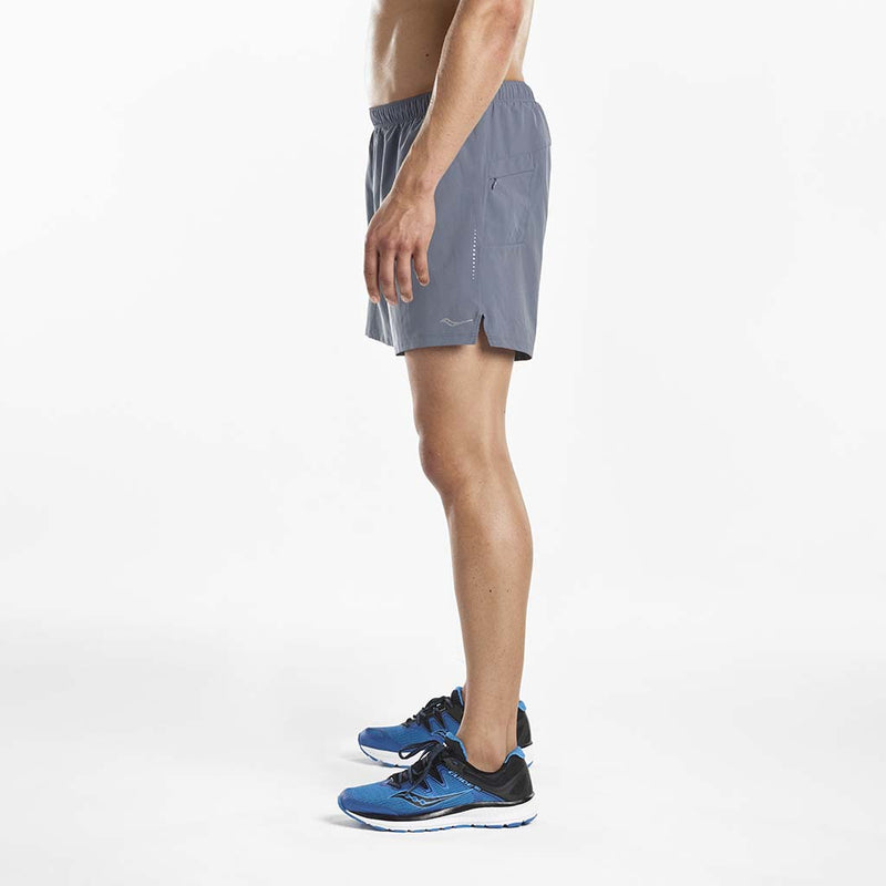 Saucony Throttle men's running shorts gris lv