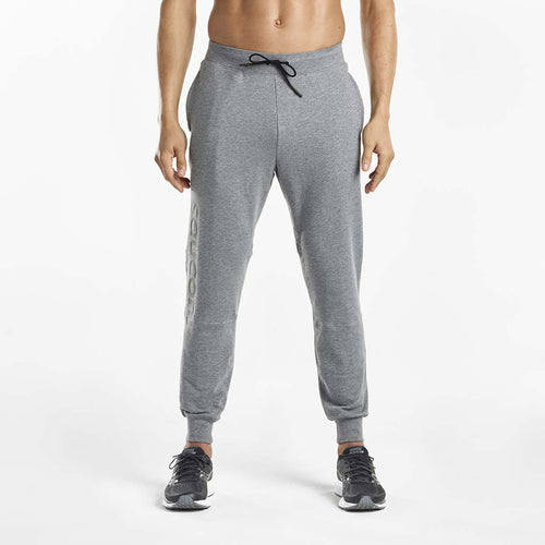 Saucony Life on The Run Cooldown jogger pant men dark grey heather