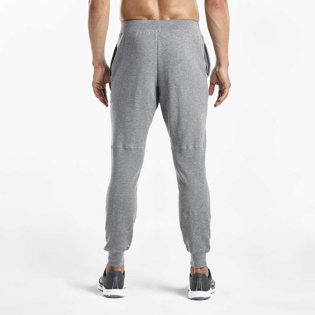 Saucony Life on The Run Cooldown jogger pant men dark grey heather rv