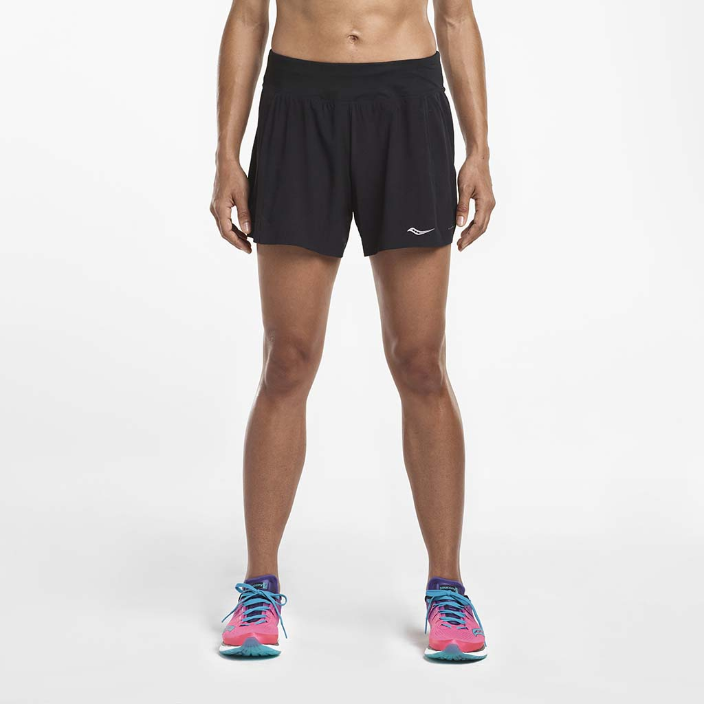 Saucony Tranquil women's running shorts black