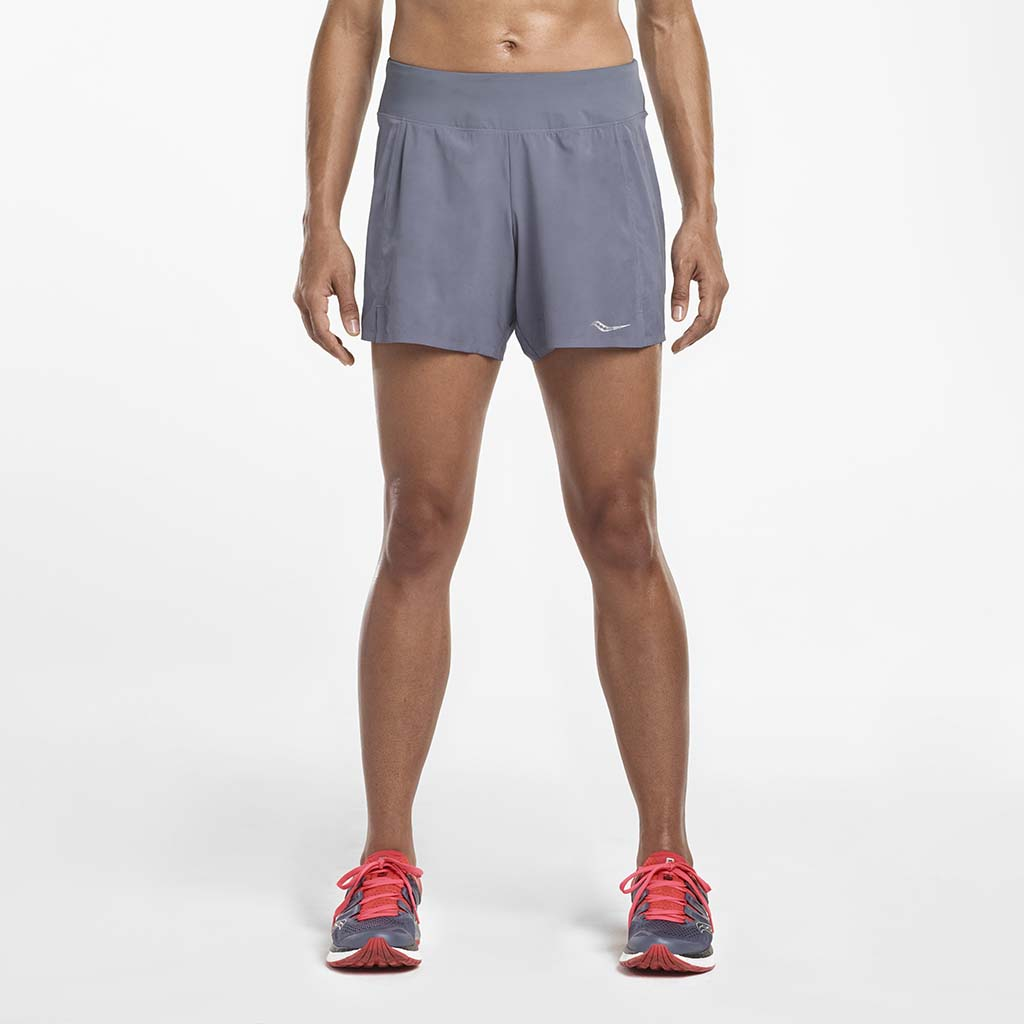 Saucony Tranquil women's running shorts gris