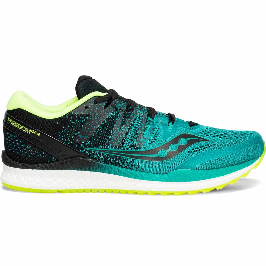 Saucony Freedom Iso 2 teal chaussure de course a pied homme