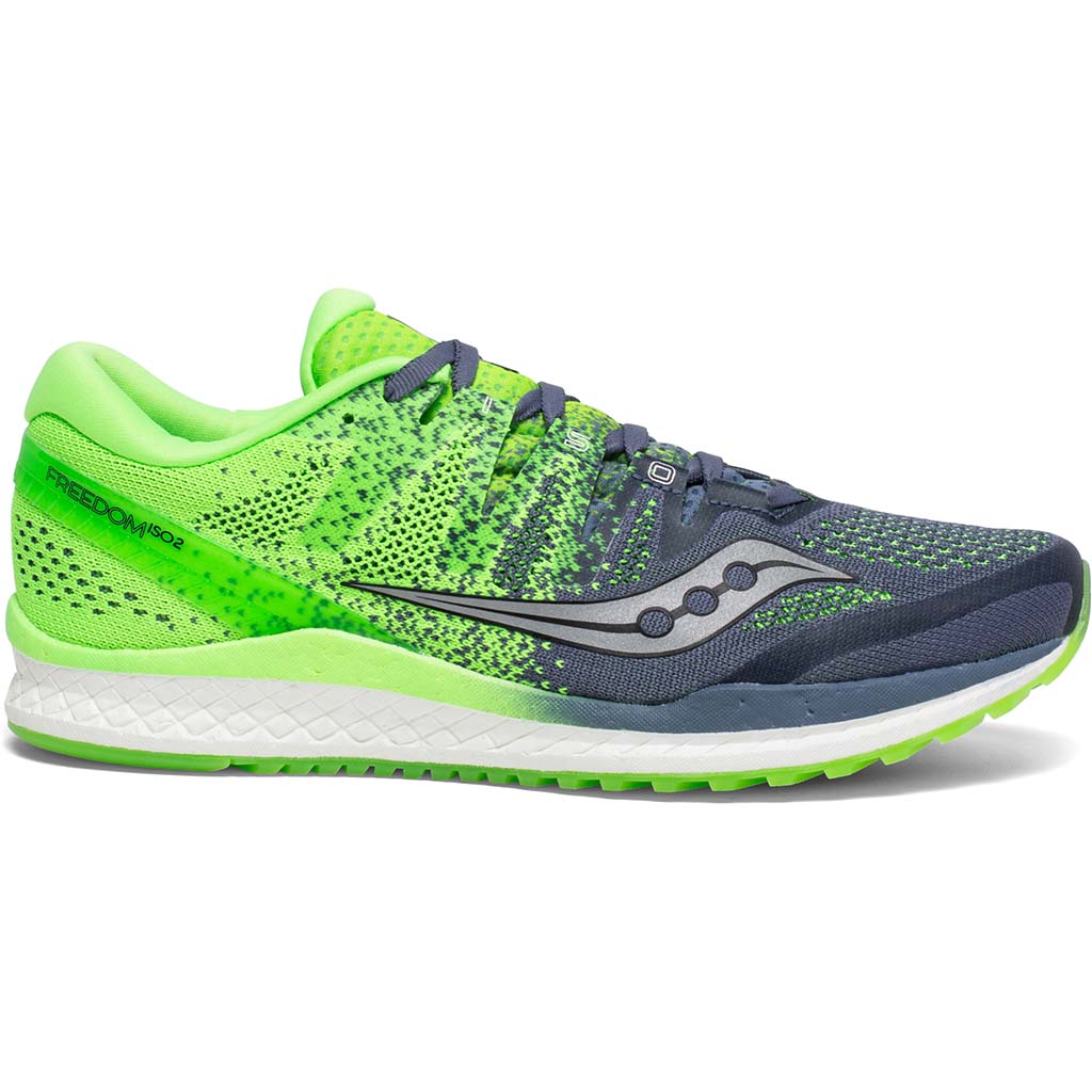 Saucony Freedom Iso 2 grey slime chaussure de course a pied homme