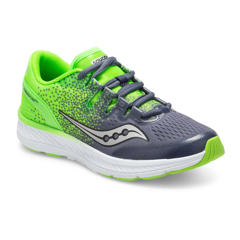 Saucony Freedom Iso kids chaussure de course a pied blue