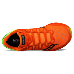 Saucony Freedom Iso chaussure de course a pied homme orange citron uv