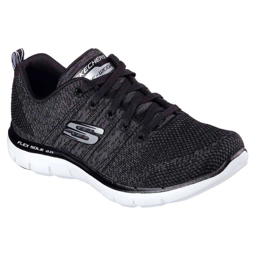 Skechers Flez Appeal 2.0 women's shoes black white