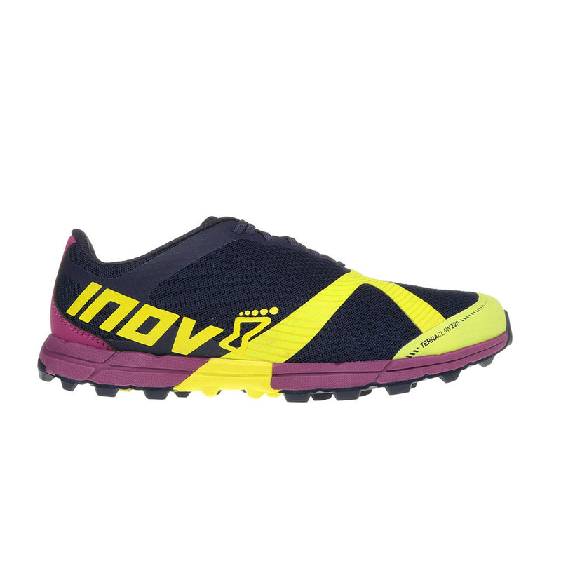 INOV-8 TerraClaw 220 chaussure de course a pied trail femme bleu lime pourpre uv