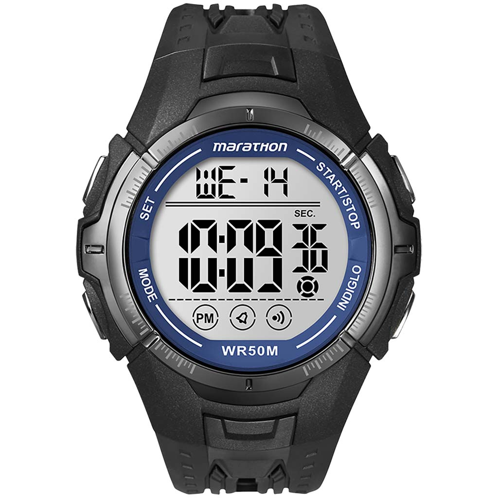 Timex Marathon sport watch black blue