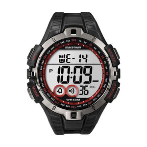 Timex Marathon sport watch black red