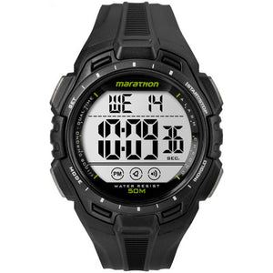 Timex Marathon digital sport watch black lime