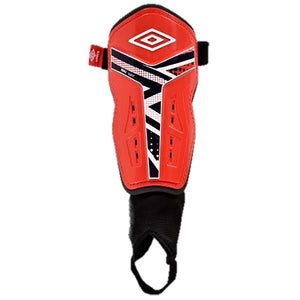 Umbro Pro Valor soccer shin guard red black