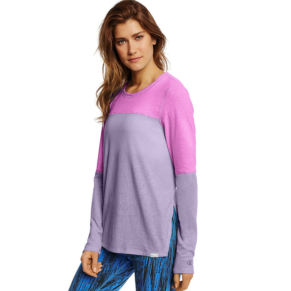 Chandail femme Champion Loose Fit Tee women's long sleeve tee Soccer Sport Fitness