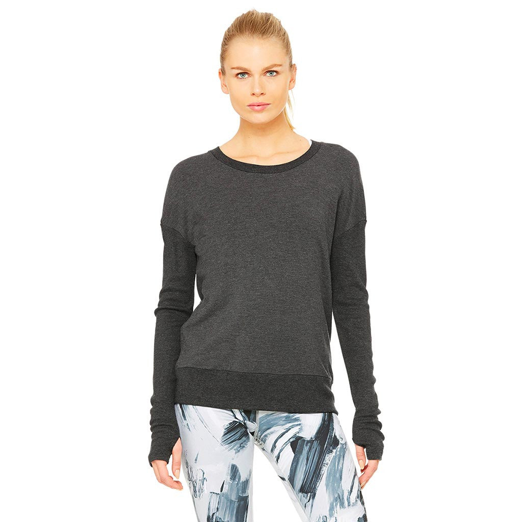 alo Yoga Intricate chandail a manches longues pour femme charcoal