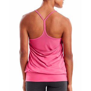 Camisole sport femme Champion Mesh Strappy Tank rose vue dos  Soccer Sport Fitness