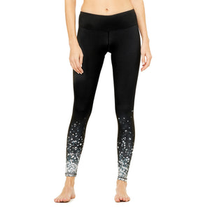 alo Yoga Airbrush Black Brilliance legging pour femme
