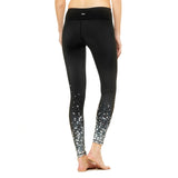 Legging femme alo Yoga women's Airbrush Black Brilliance leggings Soccer Sport Fitness