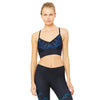 alo Yoga Aria soutien-gorge sport Rich navy tropical feathers