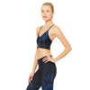 alo Yoga Aria soutien-gorge sport Rich navy tropical feathers sv
