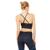 alo Yoga Aria soutien-gorge sport Rich navy tropical feathers vue dos