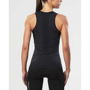 2XU women's compression sport tank top noir rv1