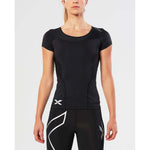 2XU women's compression sport t-shirt black lv